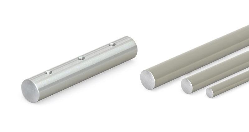 Precision aluminum shaft, hard anodized