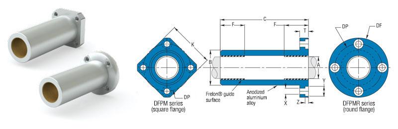 flange mount bearings DFPM