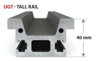 UGT tall profile for greater structural integrity