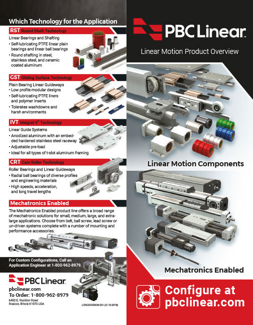 Product Catalog Linear Motion Solutions Selection Guide Overview